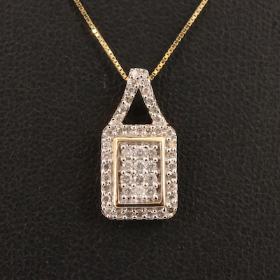 10K Diamond Pendant Necklace