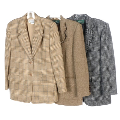 LAUREN Ralph Lauren and Talbots Wool Tweed Jackets