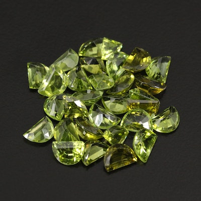 Loose 24.96 CTW Faceted Peridots