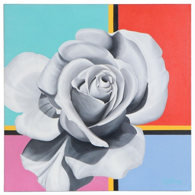 "Deborah Bigeleisen Oil Painting ""Starting Point"", 21st Century"