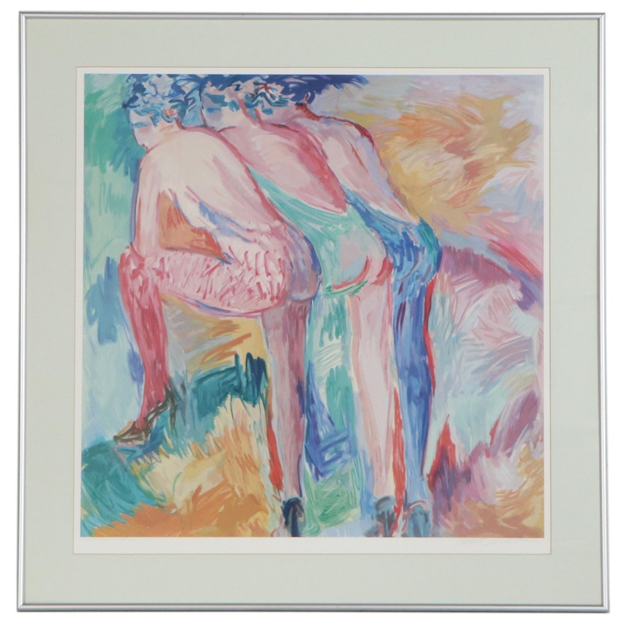 "Barbara A. Wood Offset Lithograph ""Intermission"""