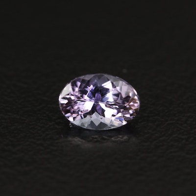 Loose 0.77 CT Oval Faceted Tanzanite
