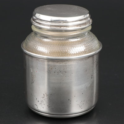 Sanborns Mexican Sterling Silver and Glass Lidded Jar
