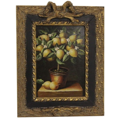 Oil Painting attributed to Robert Grace of Lemon Tree, Late 20th to 21st Century
