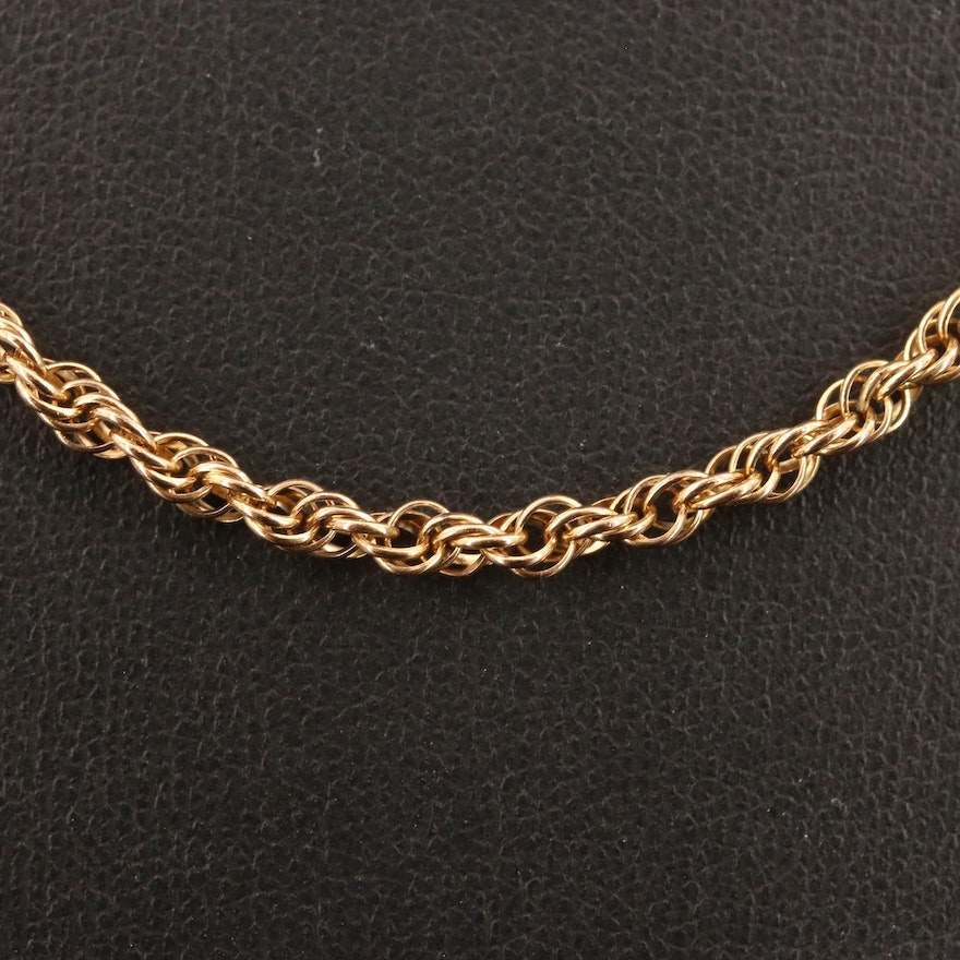 Gold Filled Singapore Chain Necklace