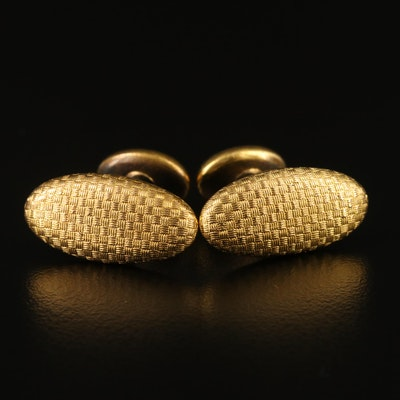Early 1900's Larter and Sons 14K Woven Motif Cufflinks