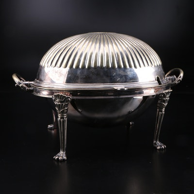 Silver Plate Domed Breakfast Server