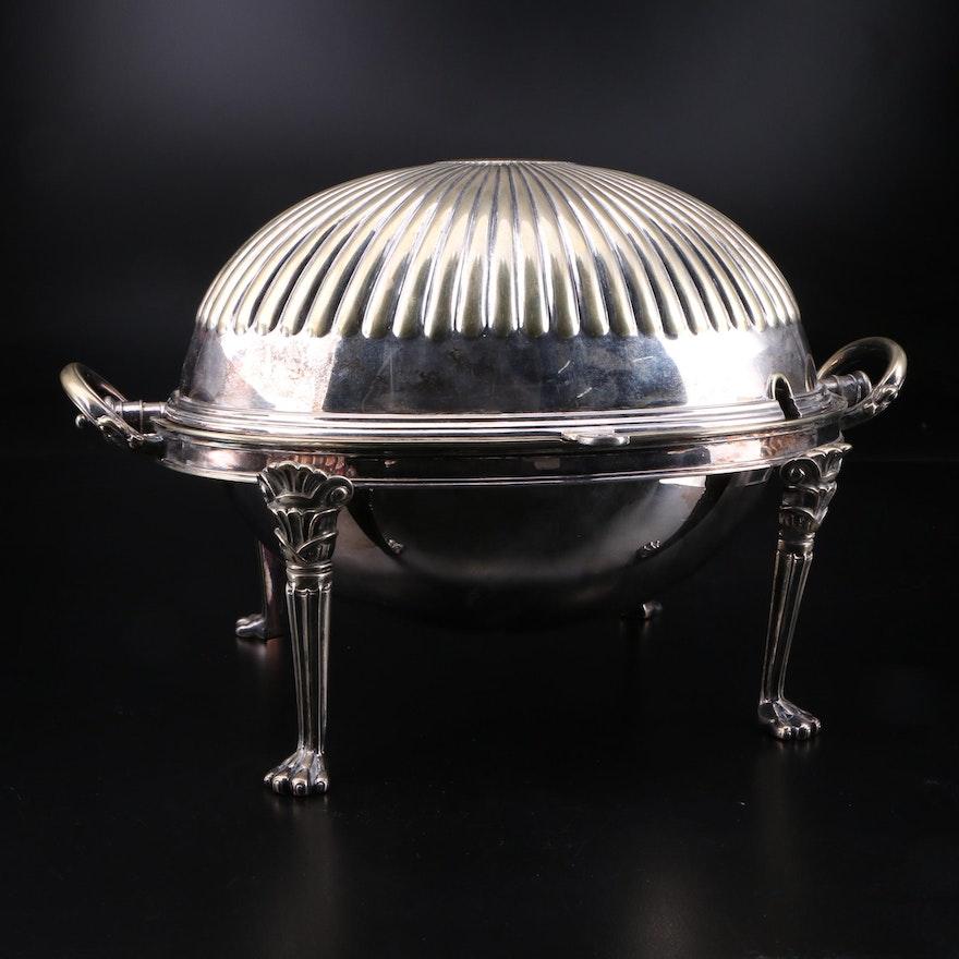 Silver Plate Domed Breakfast Server