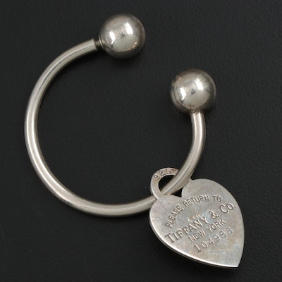 Tiffany & Co. Sterling Silver Heart Key Ring