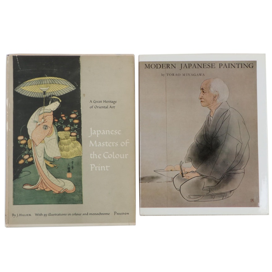 """Modern Japanese Painting"" and ""Japanese Masters of the Colour Print"" Art Books"