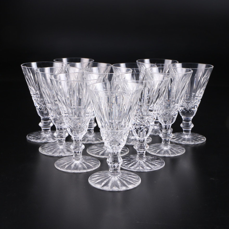 "Waterford Crystal ""Tramore"" Sherry Glasses, Mid to Late 20th Century"