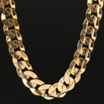 10K Heavy Curb Chain Necklace