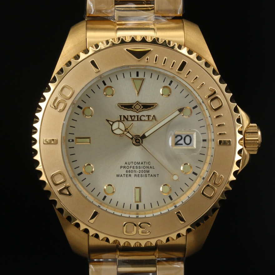 Invicta Pro Diver Stainless Steel Automatic Wristwatch