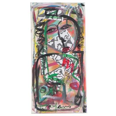 Patrice Varano Abstract Mixed Media Composition, 21st Century