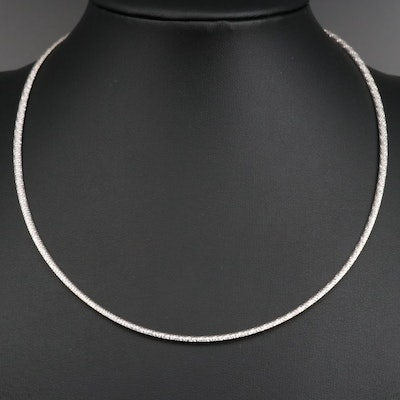10K Two-Tone Reversible Omega Chain Necklace