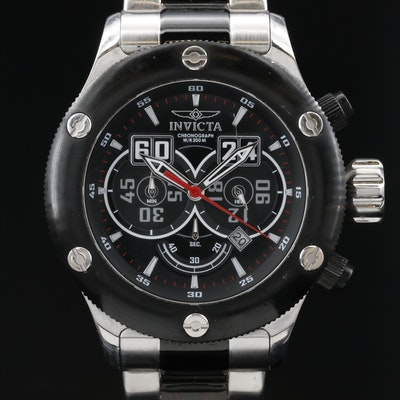 Invicta Russian Diver Chronograph Stainless Steel Quartz Wristwatch