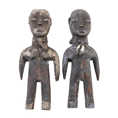 Mbuti Hand-Carved Wood Fertility Dolls, Democratic Republic of the Congo