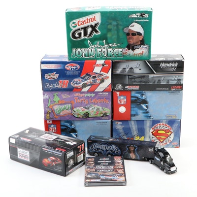 Jeff Gordon, Dale Earnhardt Jr., Bobby Labonte, NFL, 1:24 Scale Diecast Cars