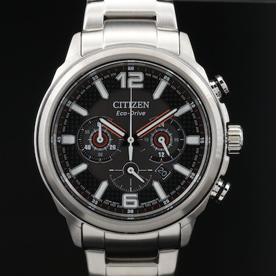 Citizen Eco-Drive Chrono Stainless Steel Wristwatch