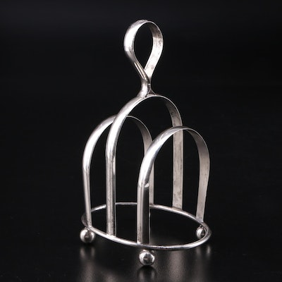 J.W.R. Sterling Silver Toast Rack
