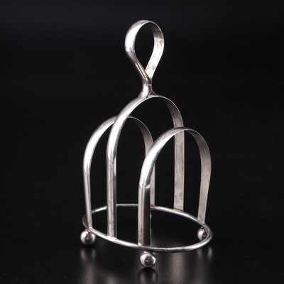 J.W.R. Sterling Silver Toast Rack