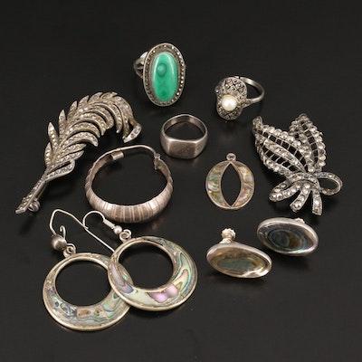 Sterling Silver Scrap Jewelry Including Gemstones