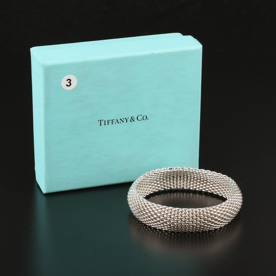 "Tiffany & Co. ""Somerset"" Sterling Mesh Bracelet"