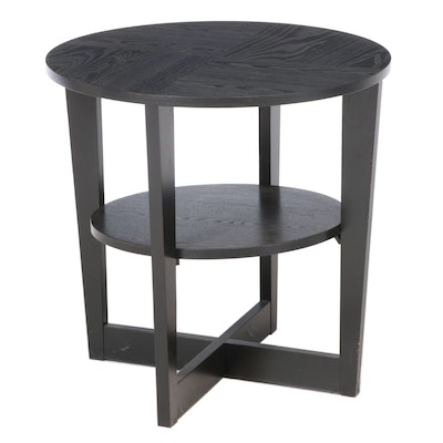 IKEA Contemporary Ebonized Wood Side Table