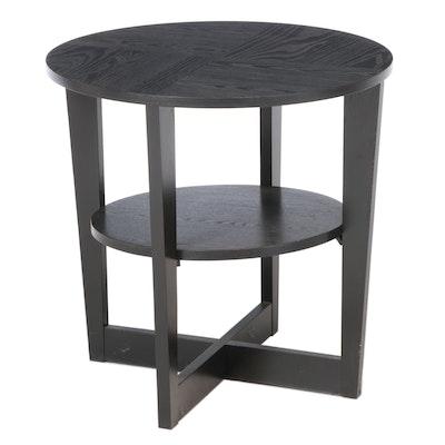 IKEA Contemporary Ebonized Wood Side Table