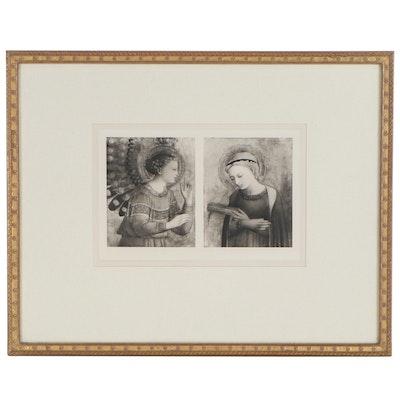 """Aquatint Etching after Andrea Mantegna """"Tarquin and the Cumaean Sibyl"""", 19th c."""