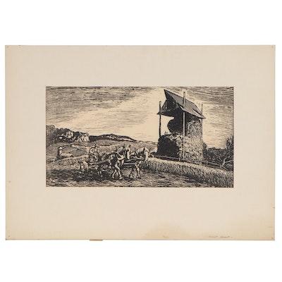 "Joseph di Gemma Plasticut ""Farm Scene,"" 1942"