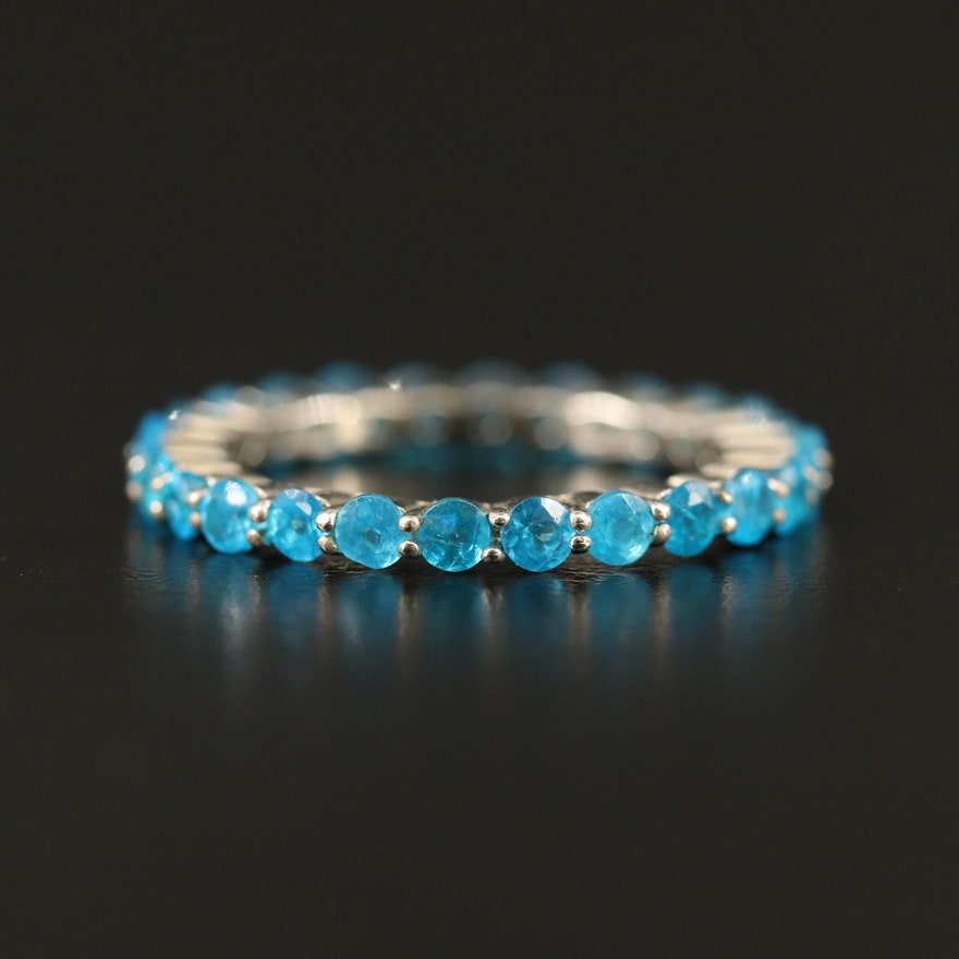 Sterling Apatite Eternity Band