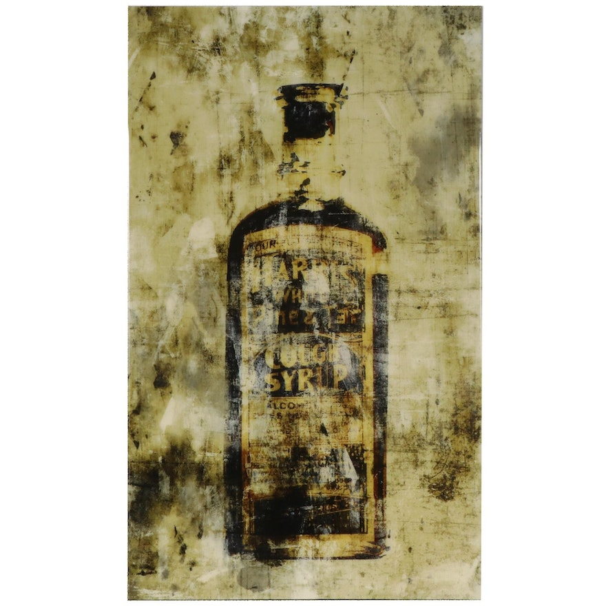 """Harris White Pine and Tar Cough Syrup"" Giclée Wall Hanging"