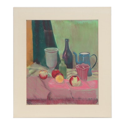 Scott Thompson Pastel Drawing Still Life, Late 20th Century