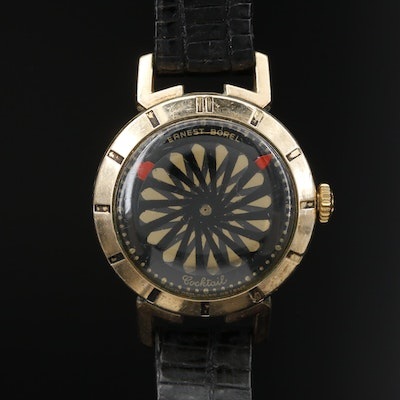 Ernest Borel Cocktail Kaleidoscope Stem Wind Wristwatch