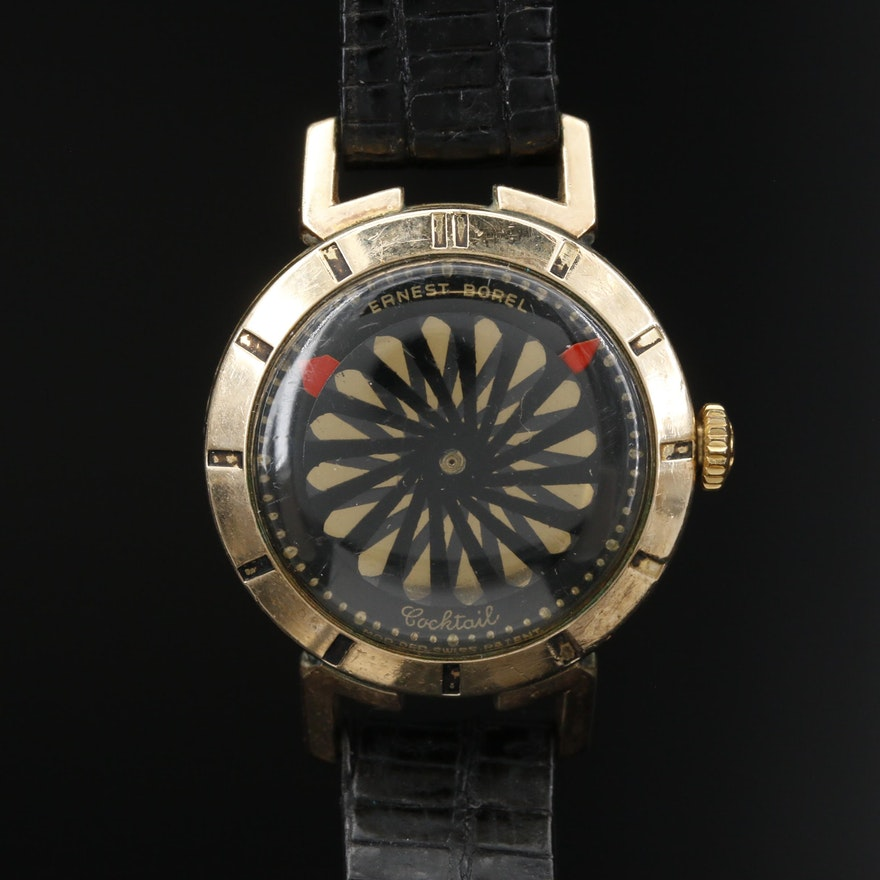 Ernest Borel Cocktail Kaleidoscope Stem Wind Wristwatch