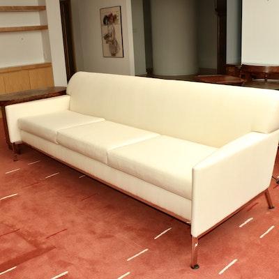 Breuton Industries Mid Century Modern Style Upholstered Sofa