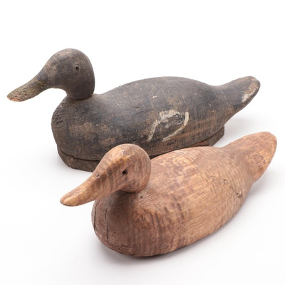 Hand Carved Wood Duck Decoys