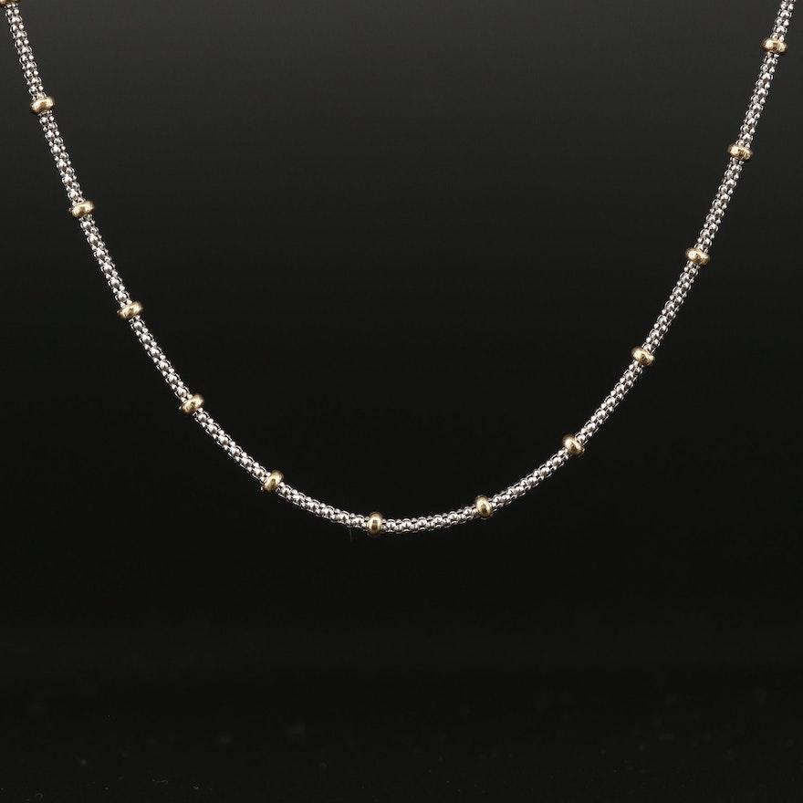 14K Popcorn Chain Pendant Necklace