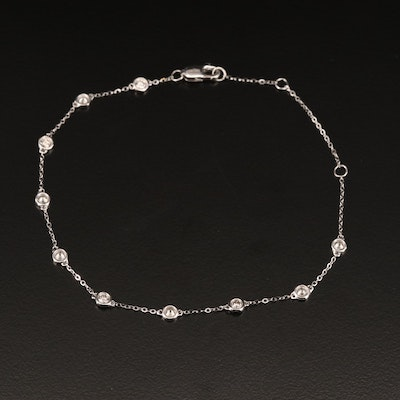 14K Diamond Station Bracelet