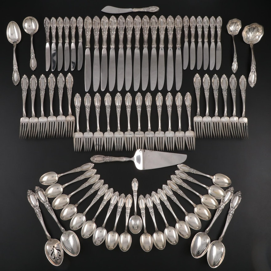 "Towle ""King Richard"" Sterling Silver Flatware, Mid to Late 20th Century"