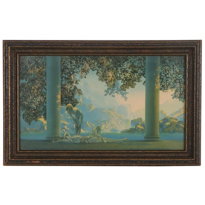"Chromolithograph after Maxfield Parrish ""Daybreak"", Early 20th Century"