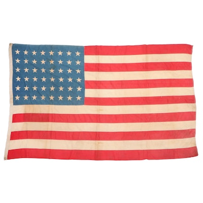 48 Star Cotton American Flag, 1912-1949