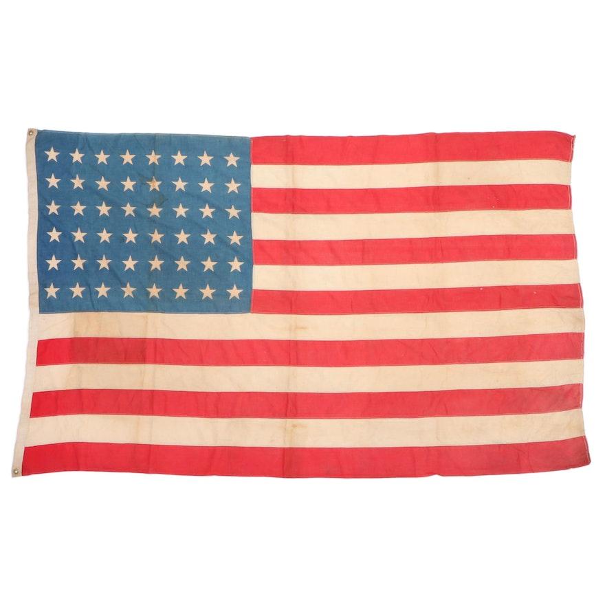 48 Star Cotton American Flag, 1912-1949