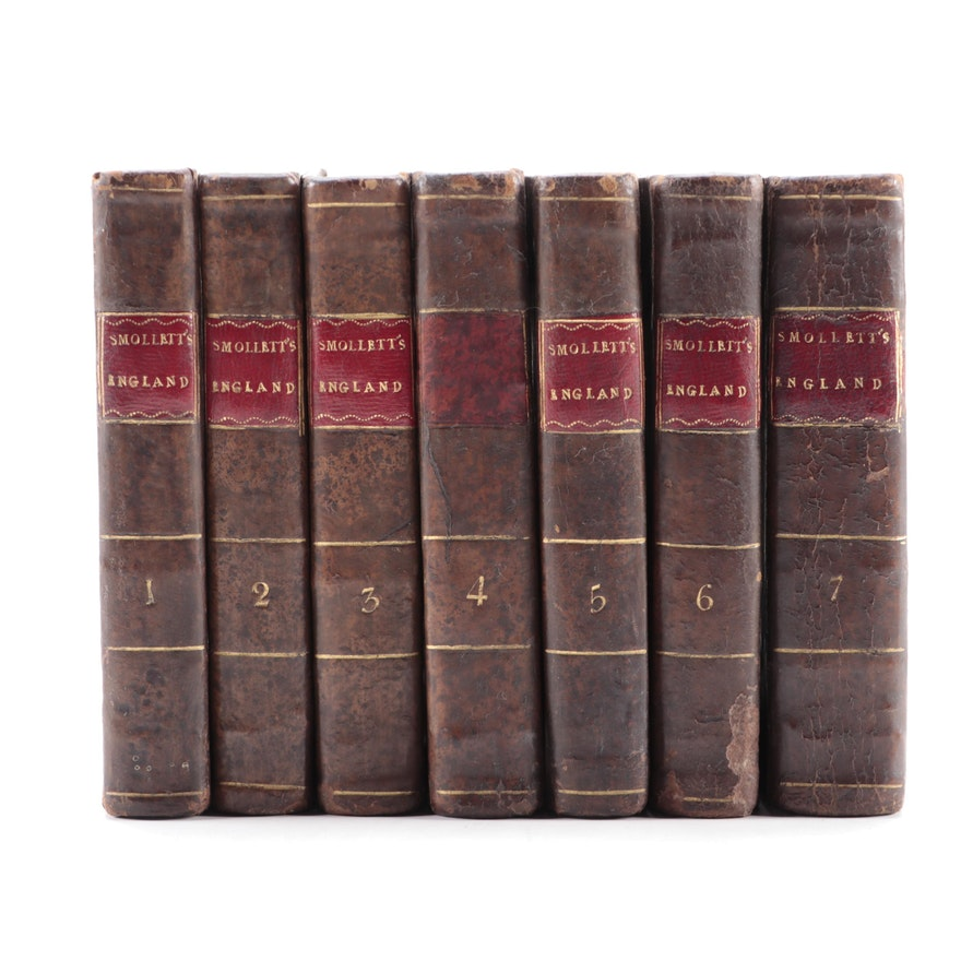 """""""The History of England"""" Cooke's Edition Seven-Volume Set by Smollett and Hume"""