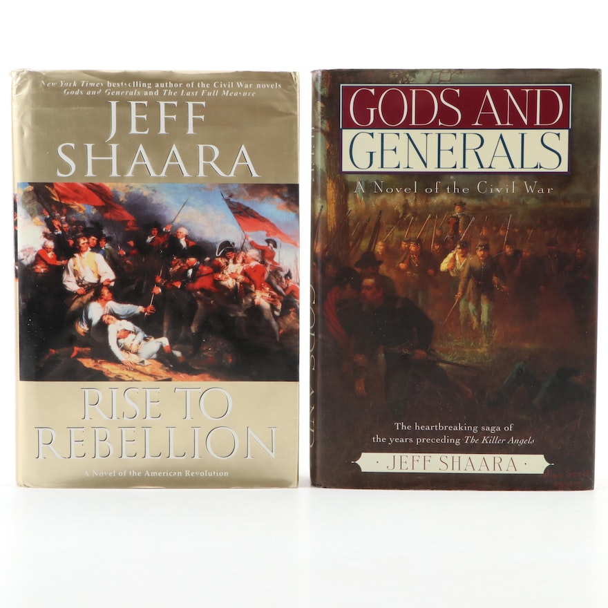"Signed First Editions ""Gods and Generals"" and ""Rise to Rebellion"" by Jeff Shaara"