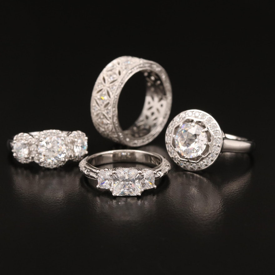 Sterling Cubic Zirconia Rings Featuring Tacori