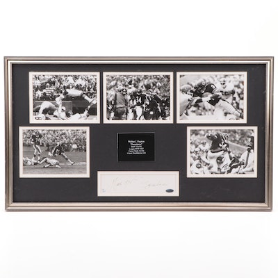 Walter Payton Cut Signature Display, Framed  Steiner COA