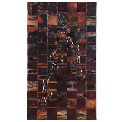 Abstract Contemporary Woven Sheet Metal Wall Sculpture