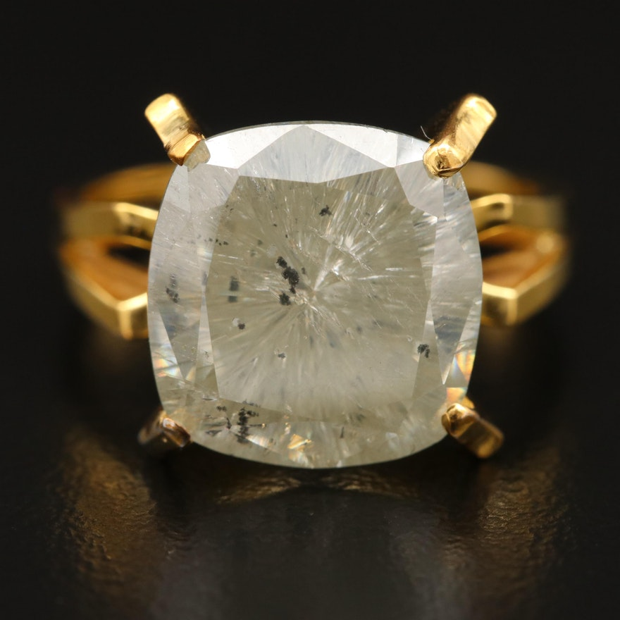10K Moissanite Ring